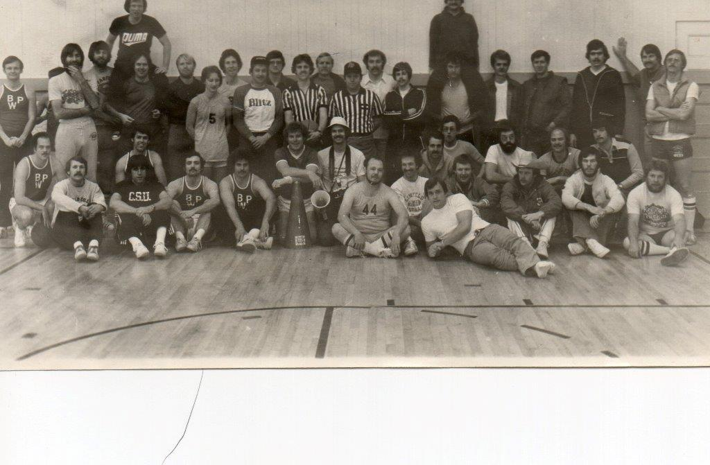 The original BWC - at least 20 Wildcats hiding among the hairy participants back in the 70s.